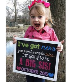 pregnancy announcement photos with siblings - Google Search