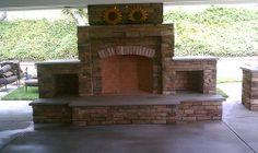 Same concept as a Concrete Countertop but integrated into an outdoor fireplace. DIY Concrete Countertop Gallery