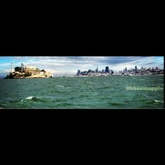 Panoramic shot of the San Francisco Bay and it's skyline