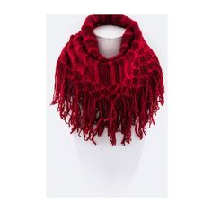 Red fringe scarf Red fringe infinity scarf. Brand new without tags. 100% acrylic. This scarf is extremely soft and is big enough to be wrapped twice. PLEASE do not purchase this listing. Price is firm unless bundled. No tradesAvailability- 4 Boutique Accessories Scarves & Wraps