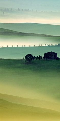- nobody cares - misty tuscany Tuscany Landscape, Landscape Art, Landscape Paintings, Landscape Photography, Nature Photography, Beautiful World, Beautiful Places, Cool Pictures, Beautiful Pictures
