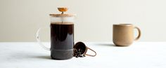 hario olive wood french press, kaufmann mercantile