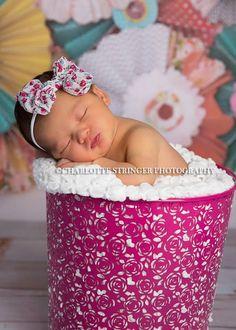 Floral rosa vintage fúcsia impressão bebê headband arco recém-nascido Meninas Fotografia Prop Primavera Verão Chiffon Vintage Big Meninas Meninos