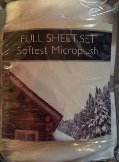 New in Pkg Berkshire Bedding Micro Plush Full Size White Sheet Set w Pillowcases | eBay