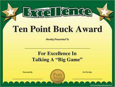 Free Printable Certificates - Funny Printable Certificates, Free Funny Award Templates