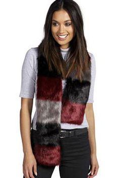 Lola Multi Colour Faux Fur Scarf