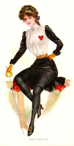 One of my first opponents at Michigan State was a girl who had a heart on her fencing blouse/jacket. She always laughed at me for hesitation.