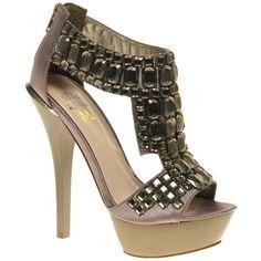 Miss Kg Hamilton Beaded Platform Sandal ($77) found on Polyvore