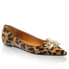 RUSSELL & BROMLEY | Tantrum flats in leopard | Natural snake print leather.  Leather lining.  Rubber sole | £215