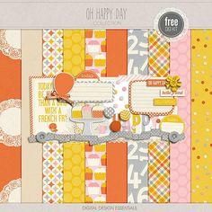 Oh Happy Day mini kit from Digital Design Essentials