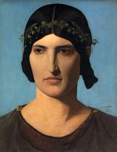 Portrait of a Roman Woman, Gerome, 1843 (See this artwork in ErgsArt mobile app)