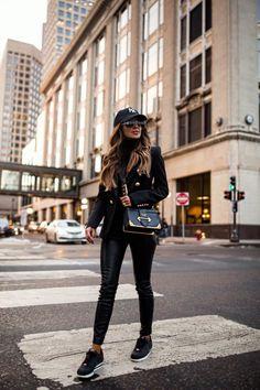 28d1ba89e8 fashion blogger mia mia mine wearing prada cahier bag and a ny yankees hat