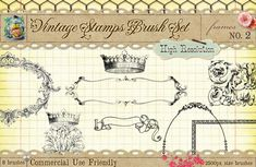 38d9f584f83 Vintage Stamps PS Brushes 2