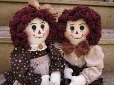Raggedy Ann and Andy. via Etsy.