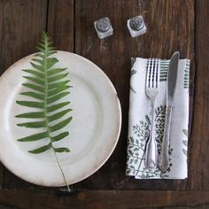French artist Amelie Mancini's Fern napkin, designed and made in Brooklyn   Remodelista