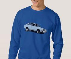 classic car from the UK, the Morris Marina Coupé print t-shirts. Morris Marina, T Shirt, Graphic Sweatshirt, Car Illustration, Retro Cars, Classic Cars, Automobile, Light Blue, Sweatshirts