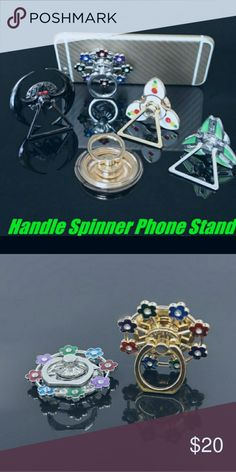 Spinner phone stand NWOT Material:alloy Style:new finger spinner phone holder 1.... #biting #hand #nail #nailbiting #stop Nail Biting, Healthy Nails, Phone Stand, Phone Holder, Finger, Metal Ring, Spinning, Smoking, Numbers
