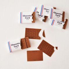 チョコっとカード Chocotto Card Brand Packaging, Packaging Design, Branding Design, Bussiness Card, Corporate Identity Design, Art N Craft, Postcard Design, Small Cards, Message Card