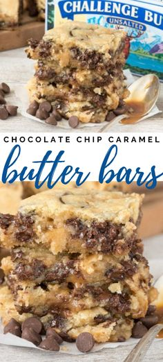 dessert recipes 371124825546039666 - Gooey Chocolate Chip Cookie Bars filled with caramel! These butter bars are like a buttery cookie bar filled with chocolate. It's an easy recipe that's the perfect gooey dessert! Tiramisu Dessert, Buttery Cookies, Easy Sugar Cookies, Instant Pudding, Easy Desserts, Delicious Desserts, Cold Desserts, Recipes Dinner, Best Easy Dessert Recipes