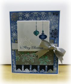 Elegant Merry Christmas Card by Paper Melody's