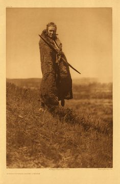 At least two of the Piegan Warrior societies (the Braves and the All Brave Dogs) included in their membership two men known as Grizzly-bear Braves. It was their duty, at the time of the society dances, to provide their comrades with meat, which they appropriated wherever they could find it. Their expression and demeanor did justice to their name, and in their official capacity they were generally feared by the people. See Volume VI, pages 20-21.