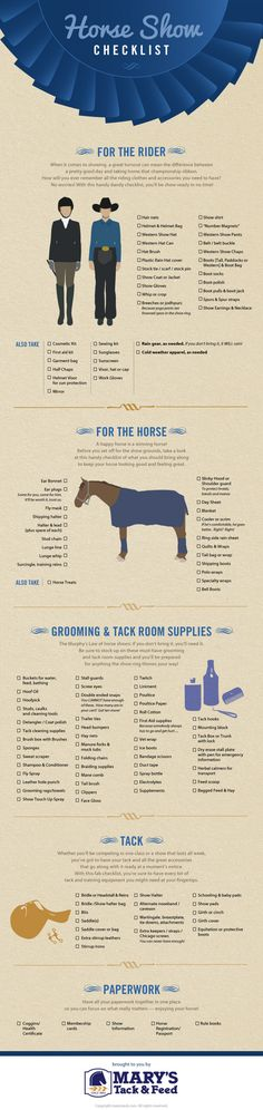 Horse Show Checklist: What You Need for a Horse Show Infographic