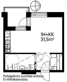 Aurinkotuulenkatu, Aurinkolahti, Helsinki, 1h+kk 31,5 m², SATO vuokra-asunto