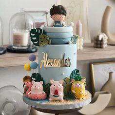 "Shaun Teo Creations🎂 on Instagram: ""Hawaii Piglet 🦩 🍍 🍉 ✨"" Barnyard Cake, Snow Globes, Hawaii, Instagram, Home Decor, Decoration Home, Room Decor, Hawaiian Islands, Home Interior Design"