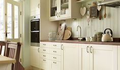 Kendal Cream Matt Kitchen from Wickes - shaker style on a budget! Cosy Kitchen, Country Kitchen, New Kitchen, Kitchen Interior, Kitchen Ideas, Kitchen Planning, Kitchen Layout, Kitchen Designs, Cream Shaker Kitchen