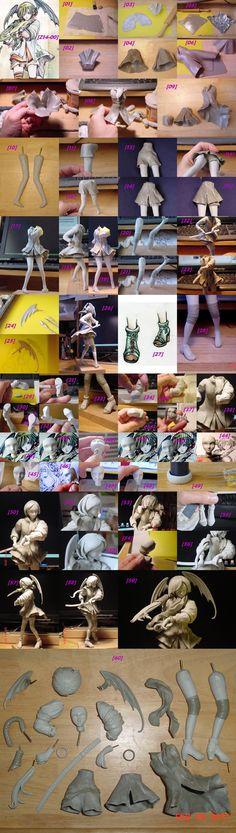 Delinda OC Sculpture WIP by ArtyAMG.deviantart.com on @deviantART