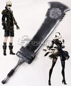 NieR: Automata 2B 9S YoRHa No.2 Type B YoRHa No.9 Type S Beastlord Sword Cosplay Weapon Prop Cosplay Sword, Cosplay Weapons, Nier Automata, Cosplay Ideas, Statue, Games, Type, Ideas, Home