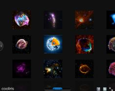 View Chandra Images in 3D Wall  http://chandra.harvard.edu/photo/3d_gallery/    Scroll through the entire library of released Chandra images in a quick-downloading 3d wall format with the Cooliris plug-in for Firefox, Internet Explorer and Safari web browsers. Click on any of the Chandra images to learn more about the object. For Chrome users, you can still scroll through the images.