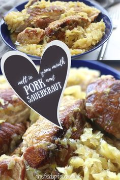 Tender melt in your mouth pork slow cooked in sauerkraut creates the best recipe. Very easy to make and extremely delicious. #PorkAndSauerkraut #PorkAndSauerkrautRecipe #PorkAndSauerkrautInOven #RibsAndSauerkraut #PorkSauerkraut