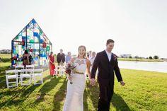 Outdoor Wedding Ceremony - Intimate Surprise Wedding at Canvas Restaurant and Market in Orlando, FL - Photo by Jessica Friend Photo Design - Click pin for more - www.orangeblossombride.com