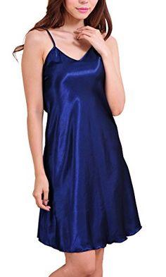 Avidlove Women's Nightshirts Satin Chemises Slip Sleepwear
