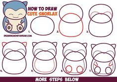 How to Draw Cute Snorlax (Chibi / Kawaii) from Pokemon in Easy Step by Step…