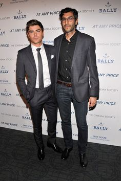 """Zac Efron and director Ramin Bahrani attend the Cinema Society & Bally screening of Sony Pictures Classics' """"At Any Price"""" at Landmark Sunshine Cinema on April 18"""