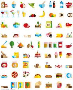 Iconos para una aplicación de Iphone desarrollados por el estudio danés Lulu & Tummie. Crema.