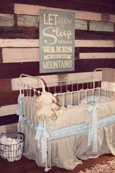 This wooden sign is perfect for a beautiful rustic nursery :: wordsonwood. Rustic Nursery, Vintage Nursery, Rustic Baby, Nursery Decor, Vintage Crib, Vintage Wood Signs, Wooden Signs, Baby Boy Rooms, Baby Boy Nurseries
