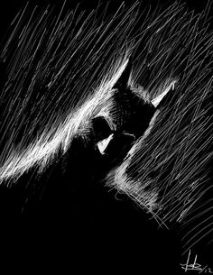 Batman — Scratch Art by Eduardo Cortes Trujillo