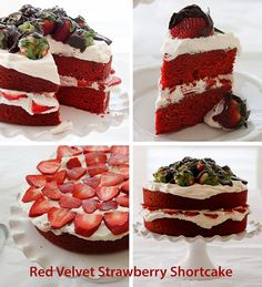 Red Velvet Strawberry Shortcake - YUM! So cute for Valentine's Day.  #spon #showlove @castrawberries