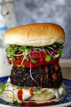 Coffee Rubbed Burger #dixiechikcooks