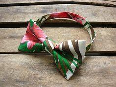 Noeud papillon tropical, Hawaï tissu, Hawaii, Funky bow tie, rétro Kitsch, Tahitian noeud papillon, papillon kitsch, palm print.