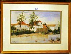 "Aquarell von dem ""bekannten Künstler"" Adolf Hitler aus seiner Zeit als Postkartenmaler !! Watercolor of the ""famous artist"" Adolf Hitler from his time as a postcard painter !!"