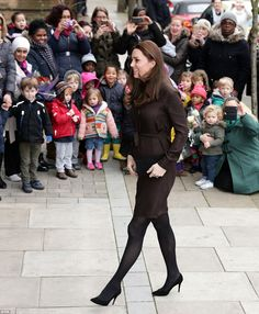 Royal welcome: An excited group of well-wishers, including a number of children, were on h...
