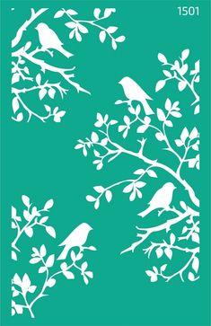 Трафарет самоклеющийся 13х20см №1501 фоновый Животные Stencil Templates, Stencil Patterns, Stencil Art, Stencil Designs, Printable Stencils, Flower Stencils, Stenciling, Wall Texture Design, Bird Template