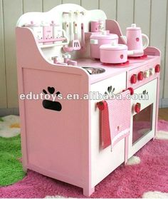 Turn your kid into a mini chef in a flash! This sweet looking wooden kitchen set, comes with colourful cooking accessories and ample storage space for your kids Toddler Kitchen Set, Kids Wooden Kitchen, Kitchen Sets For Kids, Toy Kitchen Set, Pretend Play Kitchen, Educational Toys For Kids, Kids Toys, Handmade Kitchens, Wooden Toys