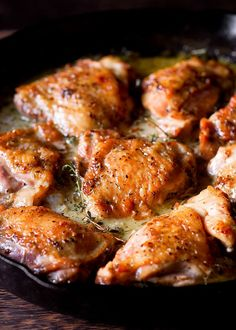Herb Roasted Chicken in Creamy White Wine Sauce One Skillet Meal