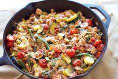 Easy turkey and vegetable skillet recipe