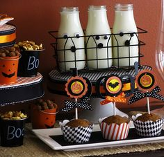 Halloween BOOfast {Breakfast} Party! - A Healthy Halloween - Kara's Party Ideas - The Place for All Things Party